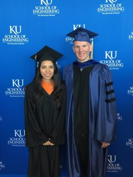 Alejandra and Dr. Shiflett at the Fall 2018 Graduation Ceremony