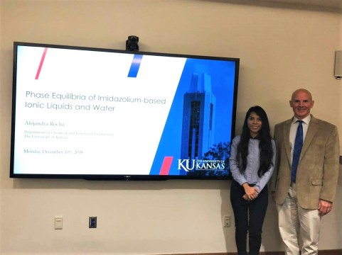 Alejandra and Dr. Shiflett at her Master's defense